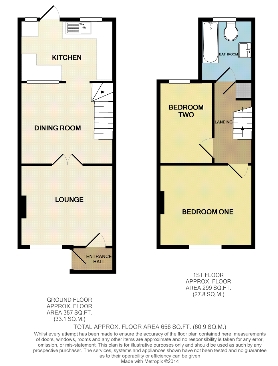 Floorplan of Chatham Place, Seaford, East Sussex, BN25 1EX