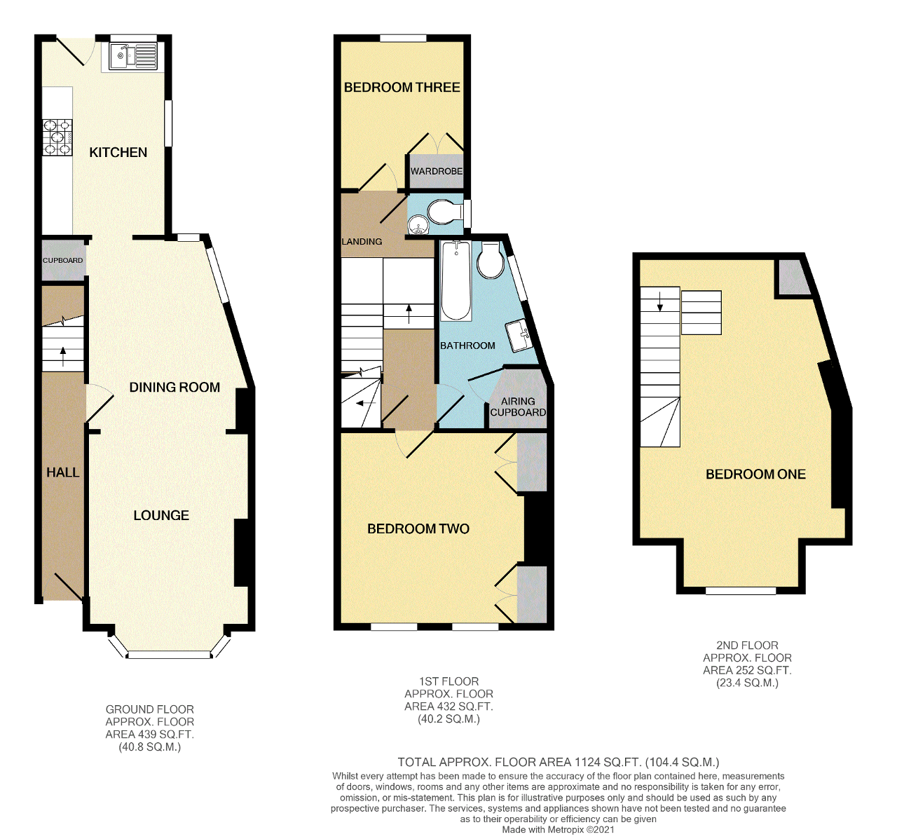 Floorplan of Chapel Street, Newhaven, East Sussex, BN9 9QD