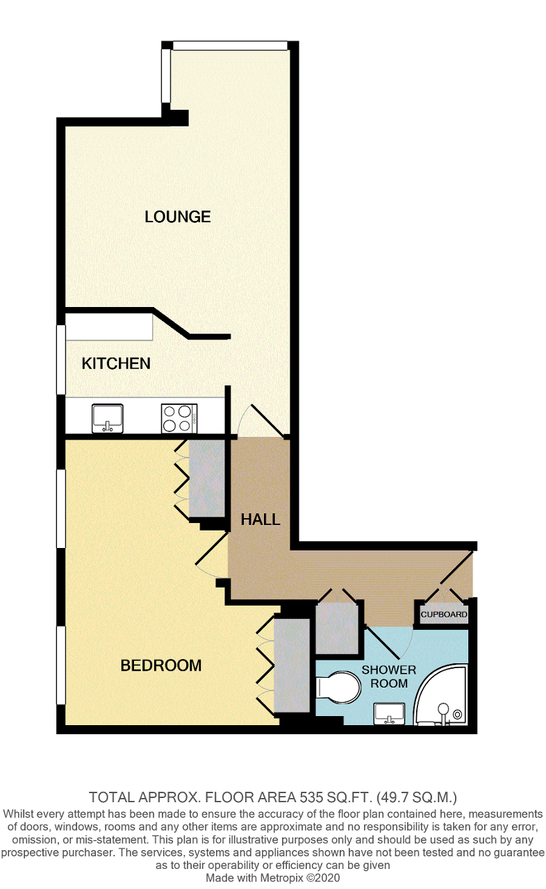Floorplan of Stratheden Court, Esplanade, Seaford, East Sussex, BN25 1JP