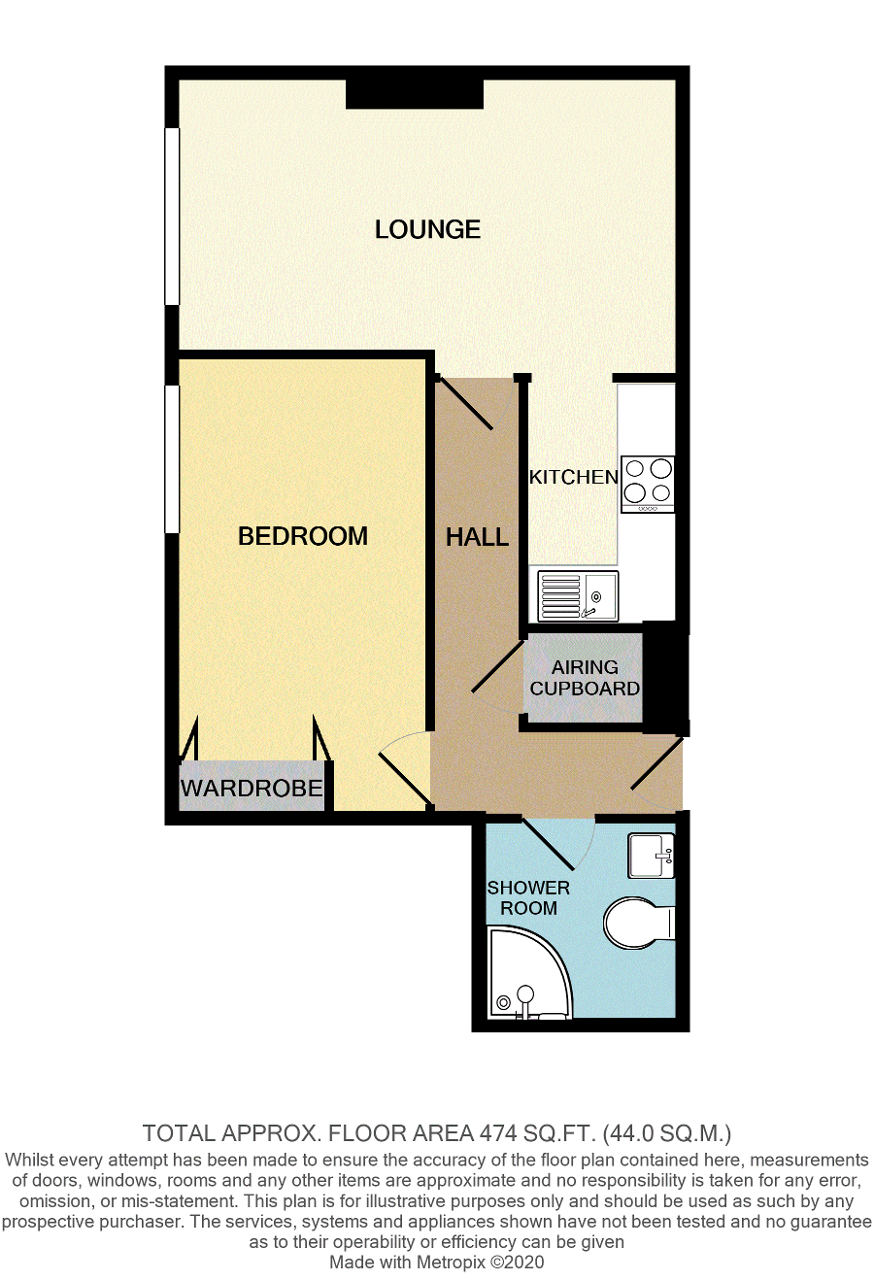 Floorplan of Merryfield Court, Marine Parade, Seaford, East Sussex, BN25 2PN